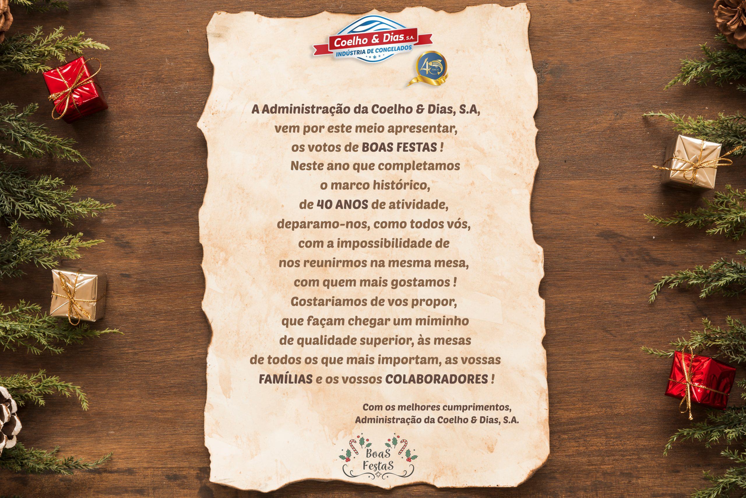 APRESENTAÇÃO DA CAMPANHA DE NATAL COELHO E DIAS 2020